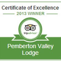 Pemberton Valley Lodge Earns 2013 TripAdvisor Award