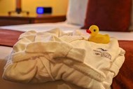 Bed with Robe and Mr Rubber Ducky