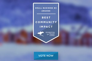 "Pemberton Valley Lodge Nominated for ""Best Community Impact"""