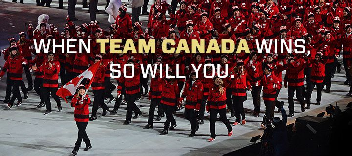 Team Canada Winter Olympics 2014