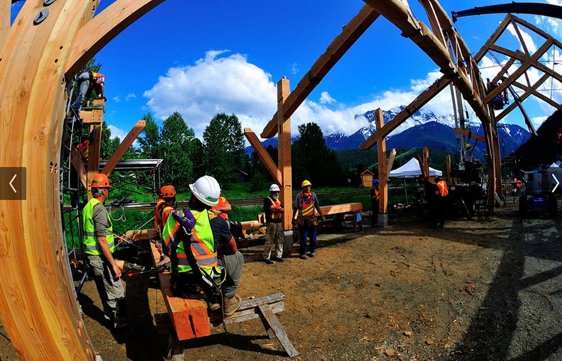 Pemberton Downtown Community Barn Raising