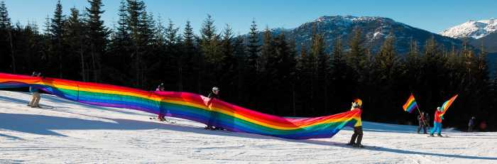 Whistler WinterPRIDE Rainbow Flag