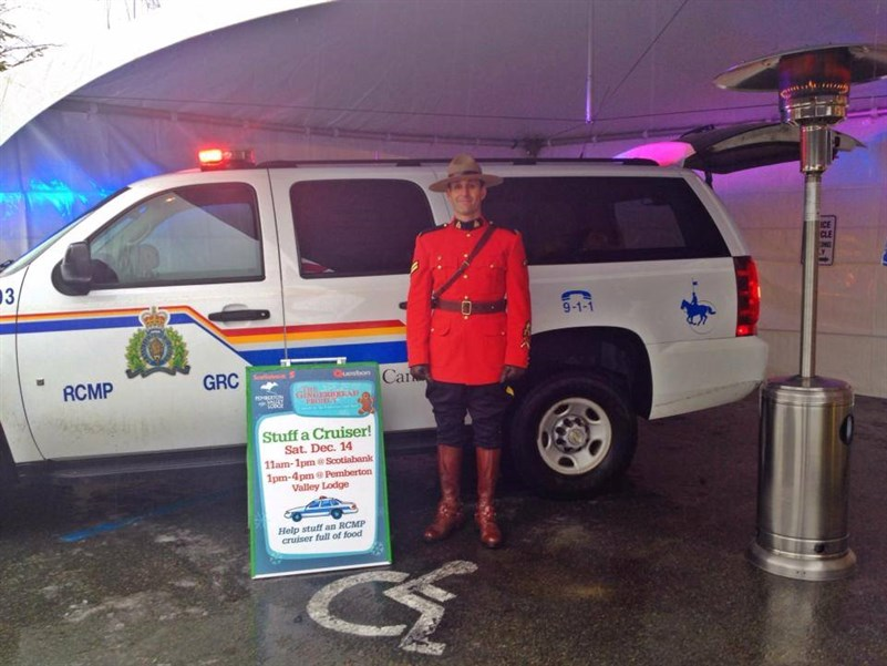 Stuff the RCMP Cruiser with Food