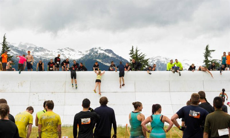 Tough Mudder Whistler Wall