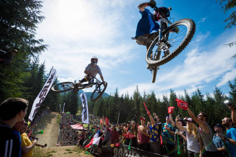 Whistler Crankworx Mountain Bikers