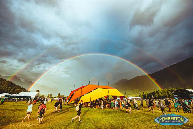 Pemberton double rainbow