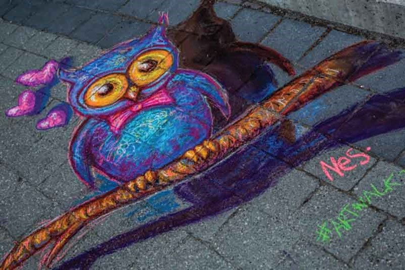 artwalk Chalk owl