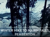 WINTER Hike to Nairn Falls Pemberton