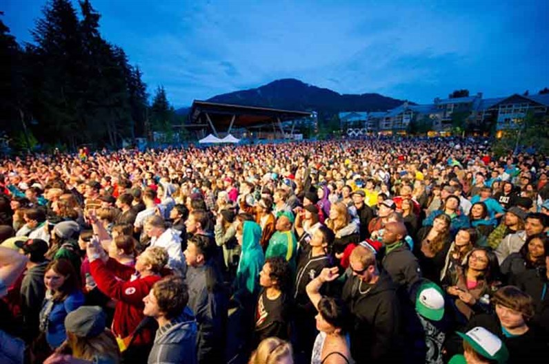 Whistler Free Concert Series Crowd