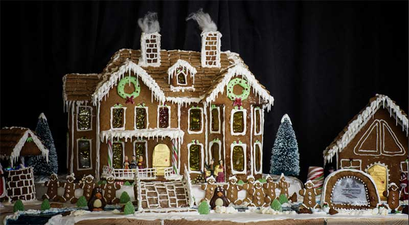Pemberton Lodge Gingerbread house contest