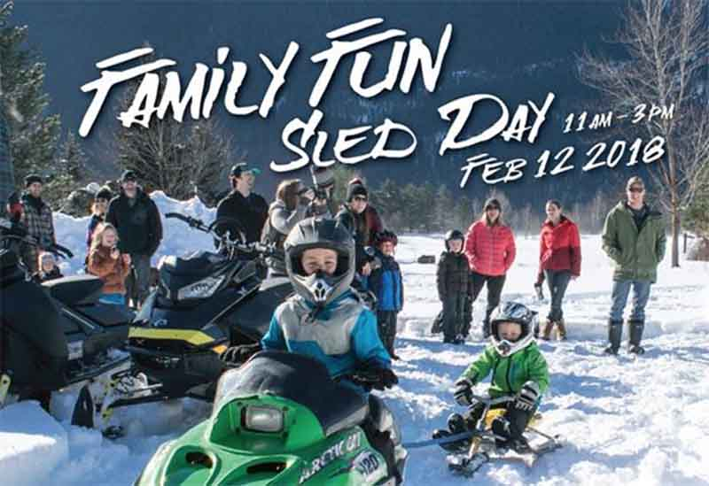 Family Day Snowmobile Pemberton Big sKy