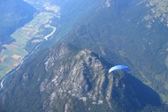 Paragliding over the Pemberton Valley