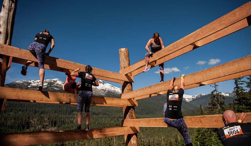 Whistler Tough Mudder Obstacle