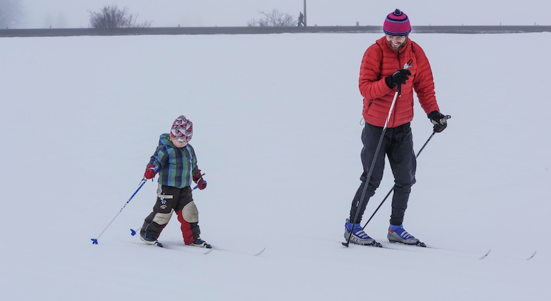 Cross country skiing in Pemberton