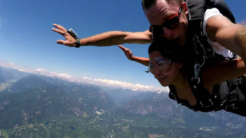 Skydiving in Pemberton
