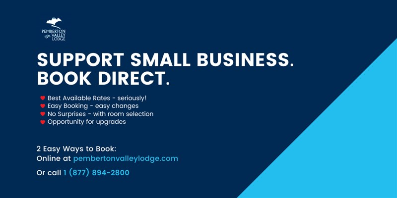 Support Small Business. Book Direct.