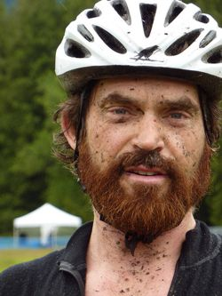 Mountain Biker Muddy Face