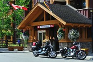The Lodge is a popular spot for motorcyclists!