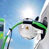 Electric Car Charging Stating Installed