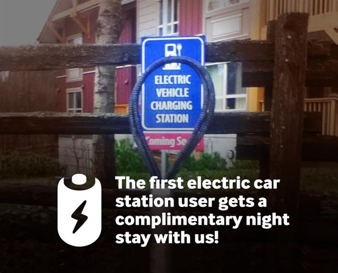 Electric Car Charging Stating Promo