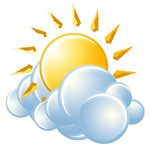 Mostly sunny and very warm; a thunderstorm in spots in the afternoon