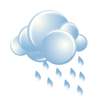 Cloudy with occasional rain and drizzle in the afternoon