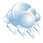 Cloudy; a little icy mix in the morning followed by occasional rain and drizzle in the afternoon